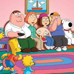 5 minutos del croosover de Los Simpsons y Family Guy