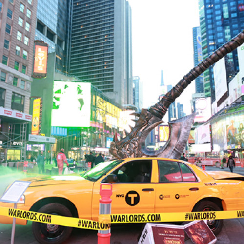 Aullavísceras descuartiza Times Square