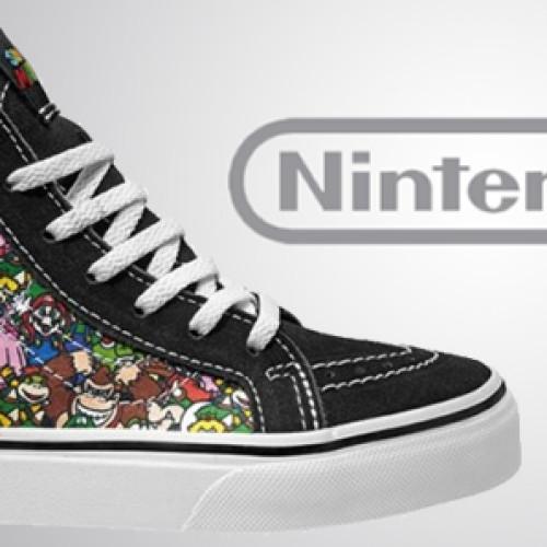 Vans y Nintendo lanzan colección de zapatillas